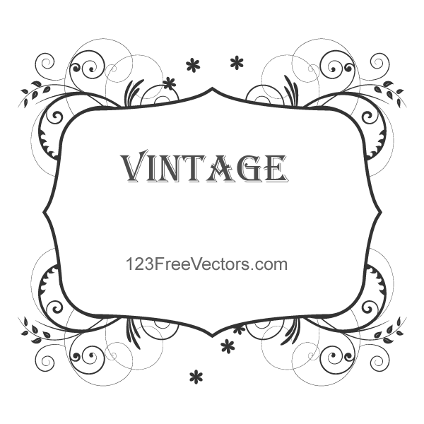 Vintage Floral Frame Images By 123freevectors