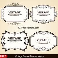 Vintage Ornate Frames Vector by 123freevectors