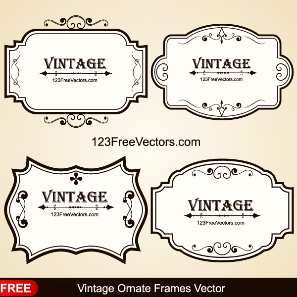 Vintage Ornate Frames Vector by 123freevectors on DeviantArt