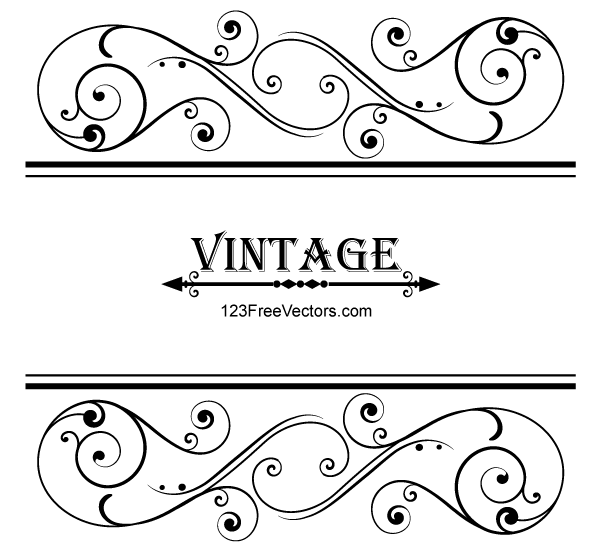 Classic Corner Flowers Leaf Vintage Line Border Retro Vector: Vector Vintage Floral Ornamental Frame Design By