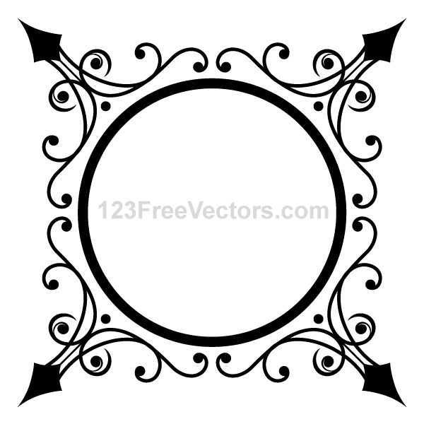 circle ornate frame vector graphics by 123freevectors on deviantart rh 123freevectors deviantart com ornate frame vector free download ornate frame vector png