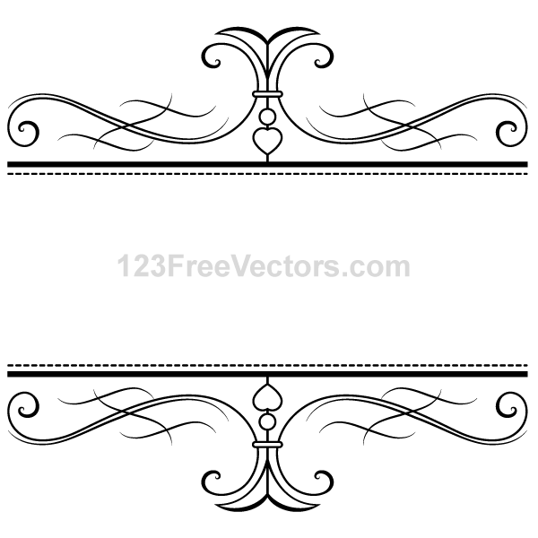 Calligraphy Ornamental Frame Vector Graphics By