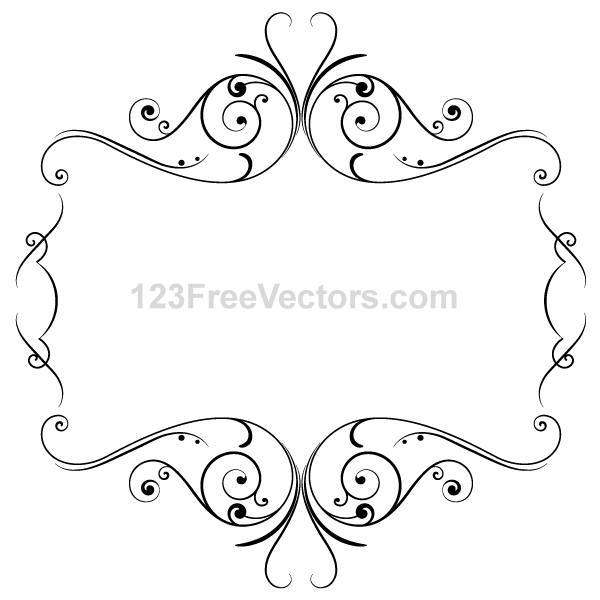 Floral Ornament Frame Vector Graphics by 123freevectors on ...