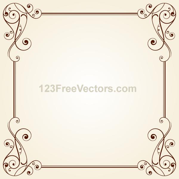 Vintage Ornate Frame Border Design Vector by ...
