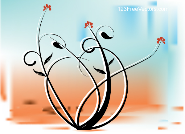 Vector Background with Floral Design by 123freevectors
