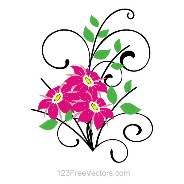 Flower Bouquet Vector Clip Art by 123freevectors on DeviantArt