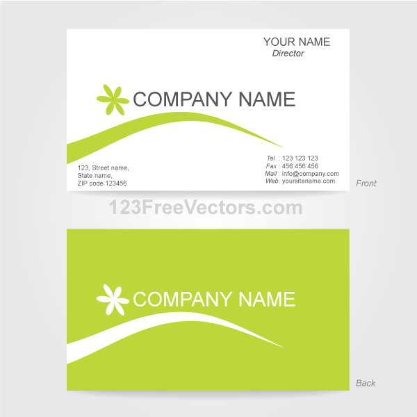 business card template illustrator by 123freevectors on deviantart
