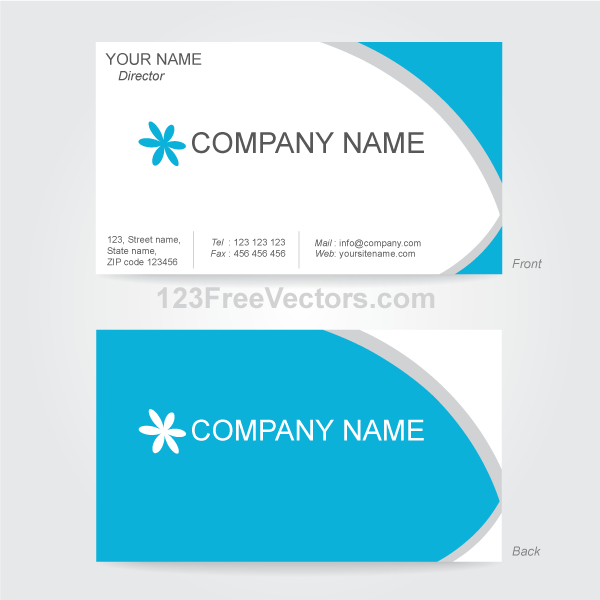 vector business card design template by 123freevectors on deviantart