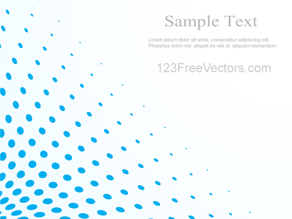 Blue Halftone Dot Pattern Background Illustrator by 123freevectors