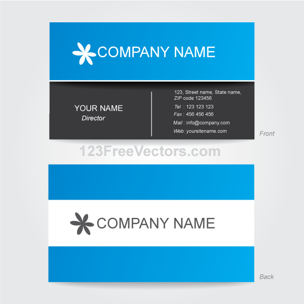 Business card template vector by 123freevectors on deviantart business card template vector by 123freevectors reheart Gallery