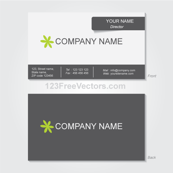 Business Card Template Vector by 123freevectors
