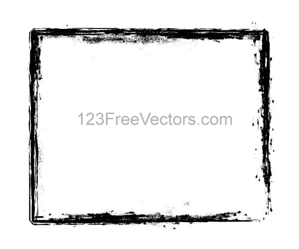 Grunge-Brush-Stroke-Frame-Vector-Illustrator by 123freevectors