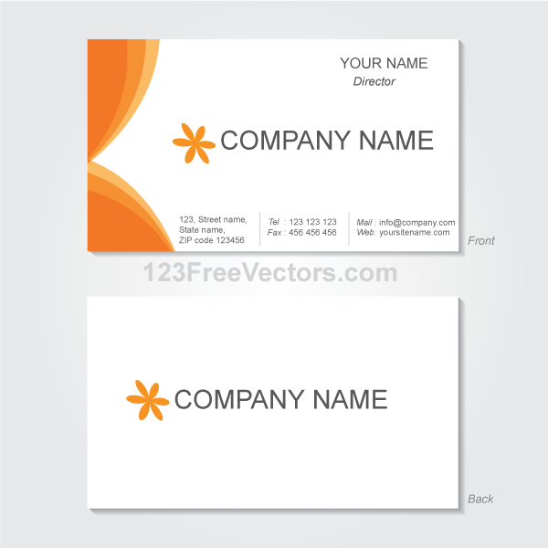 Vector Graphics Business Card Template by 123freevectors