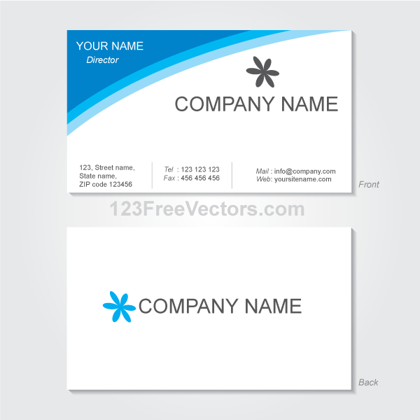 Vector Visiting Card Design Template by 123freevectors