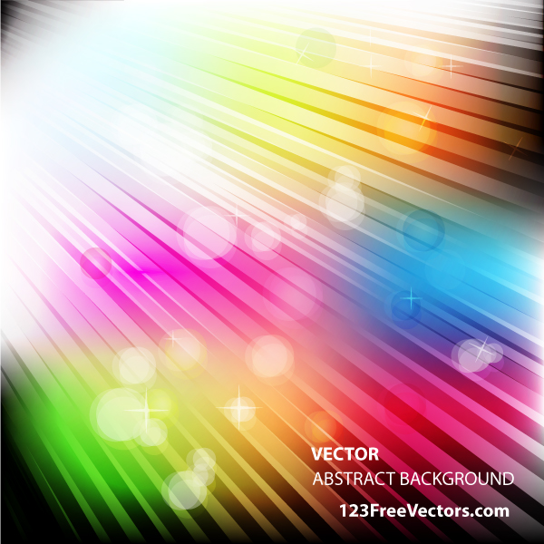 Vector Abstract Colorful Light Background Design by 123freevectors