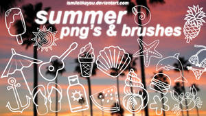 summer brushes and png's