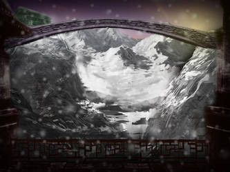Snowy Mountain  landscape by badmichel