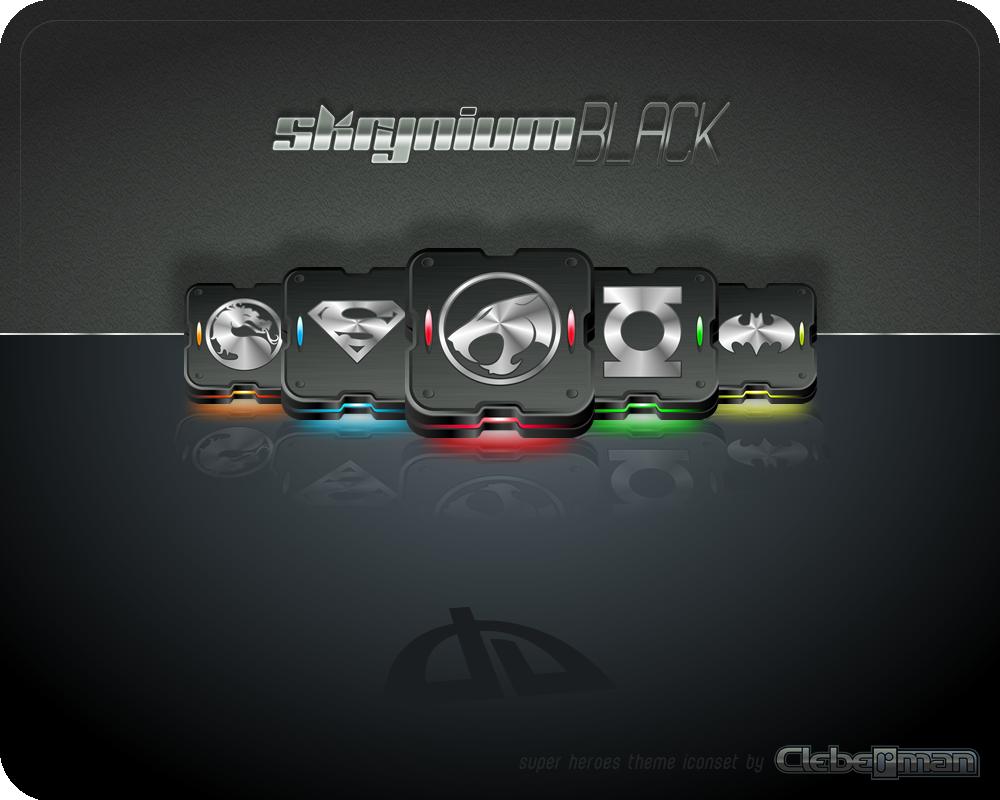 iconset: Skrynium Black 'Super Heroes' theme