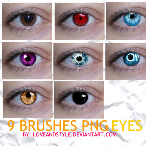 10 PNG EYES COLORS BRUSHES