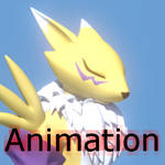 Renamon 3D walkcycle.