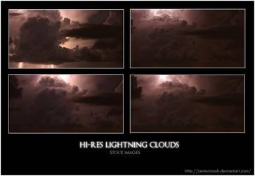 Hi-Res Lightning Clouds Stock by Centurionuk