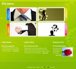 Downloadable Funky Business Web Layout PSD