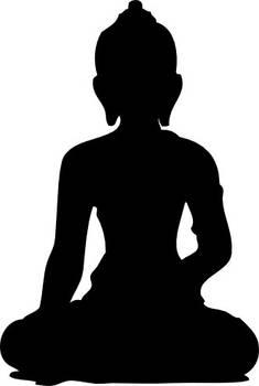 Vector Buddha Silhouette