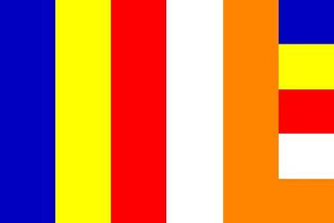 Vector Buddhist Flag