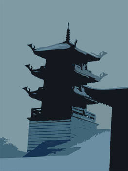 Buu Mon Pagoda with Snow