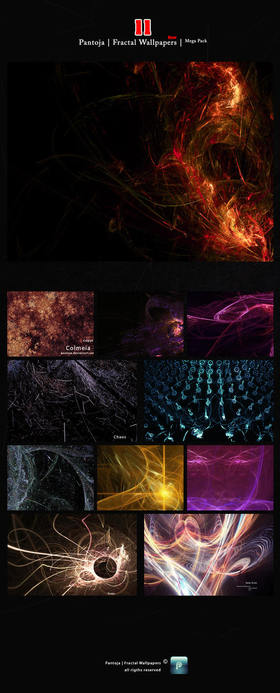 Fractal Wallpapers MEGA pack by Pantoja