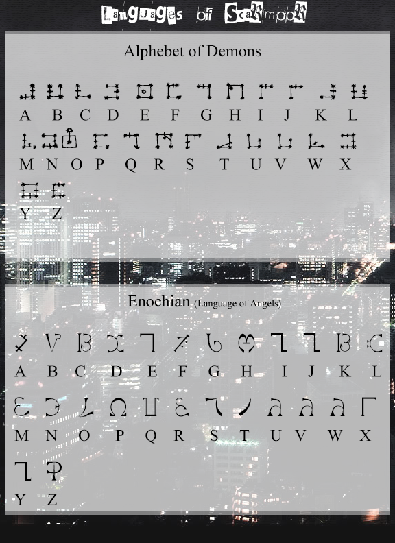 Enochian (Language of Angels) by TehPage on DeviantArt