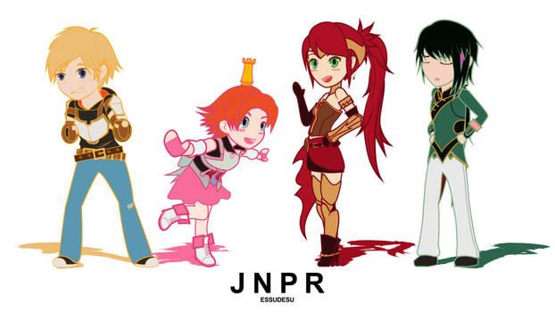 Rwby - chibiRWBY series animated loop! Team JNPR!