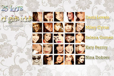 25 Icons of Girls Idols by laughlikedemi