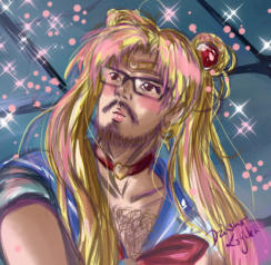 A different kind of Sailor Moon redraw