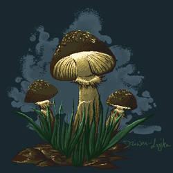 Pixelated magical funghi