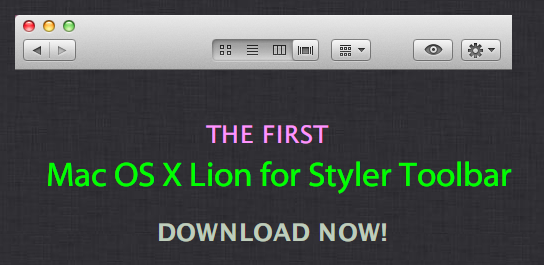 Mac OS X Lion Toolbar by caique7000
