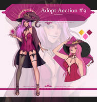 ADOPT AUCTION #9 Dark Witch Lucy (OPEN!) by lokiisart
