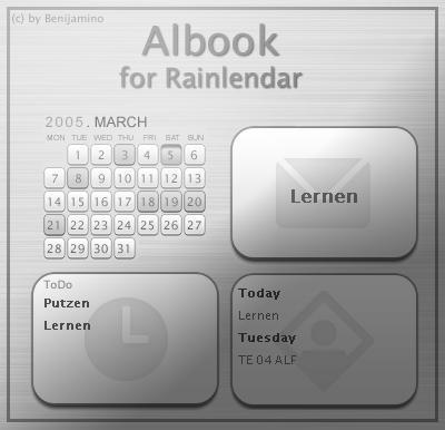 Albook for Rainlendar by Benijamino