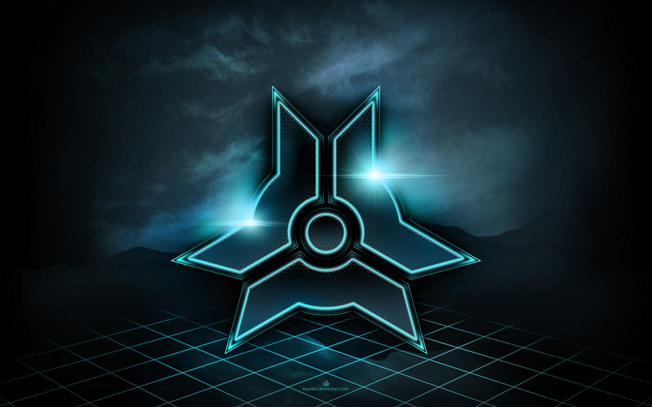 My Logo - tron style WALLPAPER by kay486 on DeviantArt