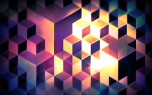 Abstract cubes WALLPAPER by kay486
