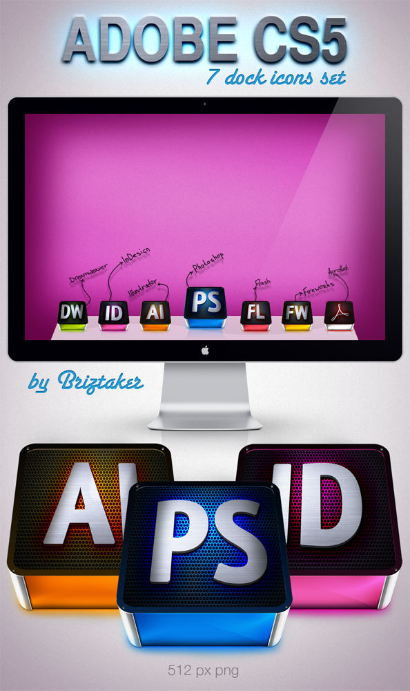 Adobe CS5 set by briztaker