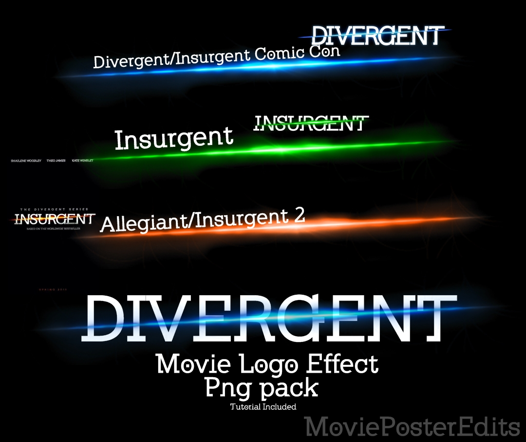 Divergent Logo Effect Png Pack by MoviePosterEdits on DeviantArt