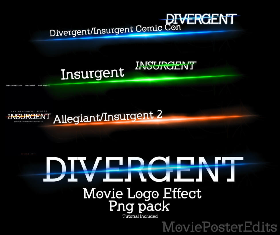 After Effects Logo Png Divergent Logo Effect Png Pack