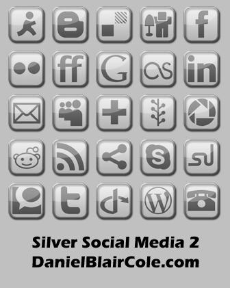 Silver Social Media Icons 2 by Technikill
