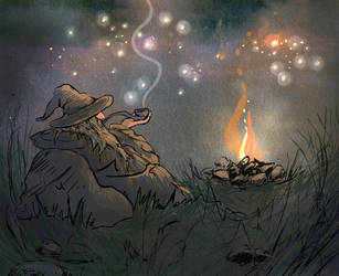 Gandalf (ANIMATION) by UllaThynell