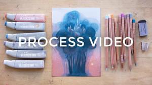 Illustration process: Blue Crown City