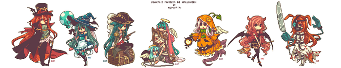 UsaKami Familia de Halloween!