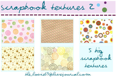 scrapbook textures 2 by hearXtheXsirens