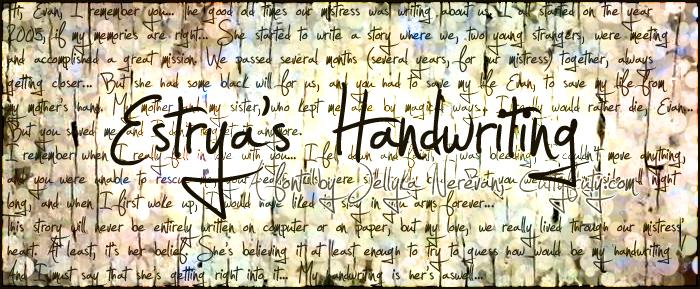 Estrya's Handwriting