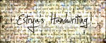 Estrya's Handwriting by Jellyka